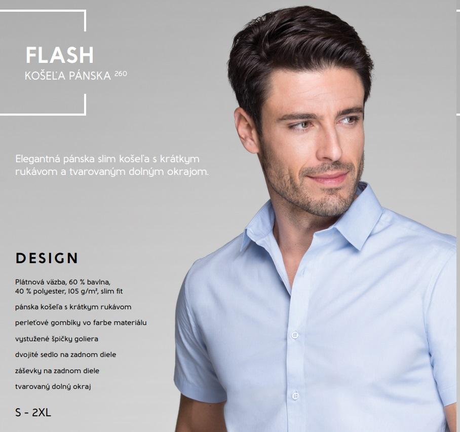 ec5a5e9693ae Pracovné odevy - 260 MALFINI FLASH KOŠEĽA PÁNSKA. Pánska košeľa s krátkym  rukávom.