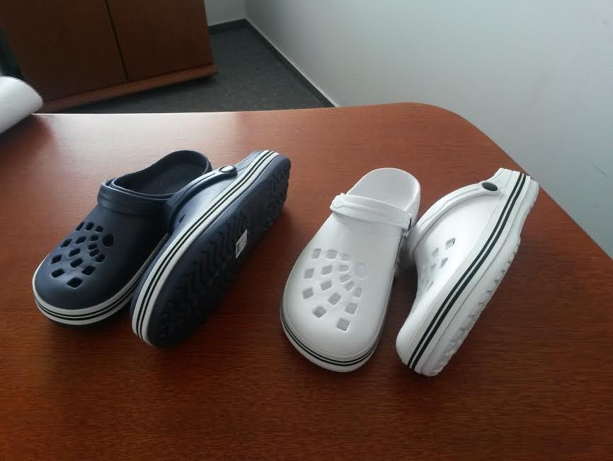 Outdoorová obuv - gumové šľapky NIGU CRV BIELE 12f749ef8a5