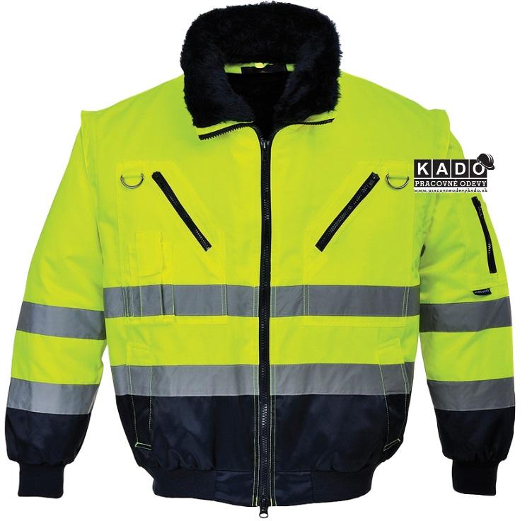 d866098723f0 Pracovné odevy-Reflexná bunda PW PJ50 3V1 žltá čierna NOVINKA