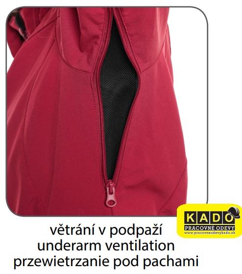 Pracovné odevy - Dámska softshellová bunda PAGE CXS MODRÁ  821871d0048