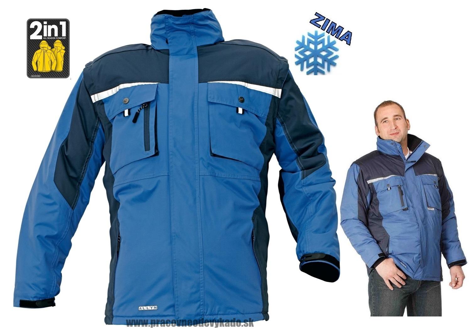 Pracovné odevy - zimná BUNDA ALLYN 2V1 modrá  ad01c4cb95c