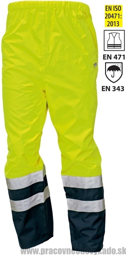 Pracovné odevy-reflexné nepremokavé nohavice EPPING ŽLTÁ TMAVOMODRÁ ... a03429a62c8