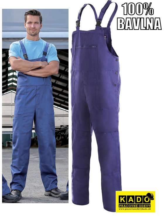 Pracovné odevy - Montérkové nohavice s náprsenkou FRANTA CXS ... 394bef6c20