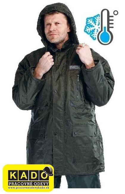 Pracovné odevy-zateplená nepremokavá bunda ATLAS POLARBEAR ČERVA ZELENÁ 17770a66c69