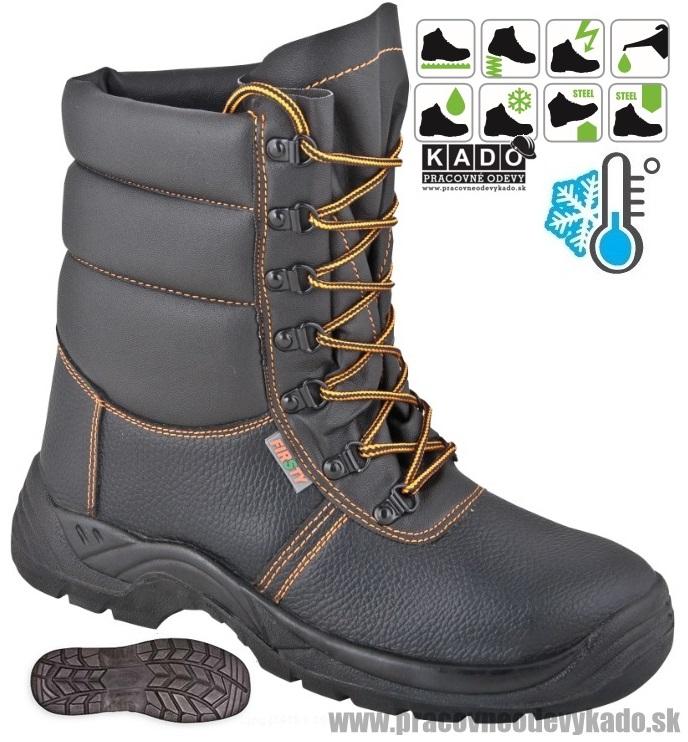 Akcia. Bezpečnostná zateplená poloholeňová obuv FIRSTY FIRWIN LB S3 WINTER 6585f060931