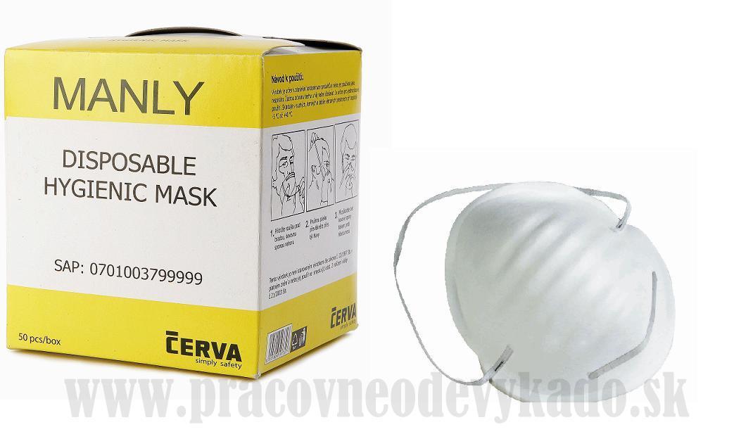 30f4e3d719b3 Pracovné odevy-jednorázové respirátory MANLY ČERVA 50ks