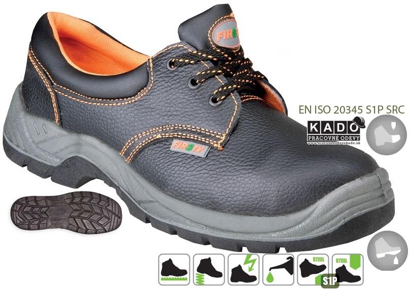 41f6bd20e2e9b Pracovná obuv FIRSTY FIRLOW S1 P Poltopánka bezpečnostná