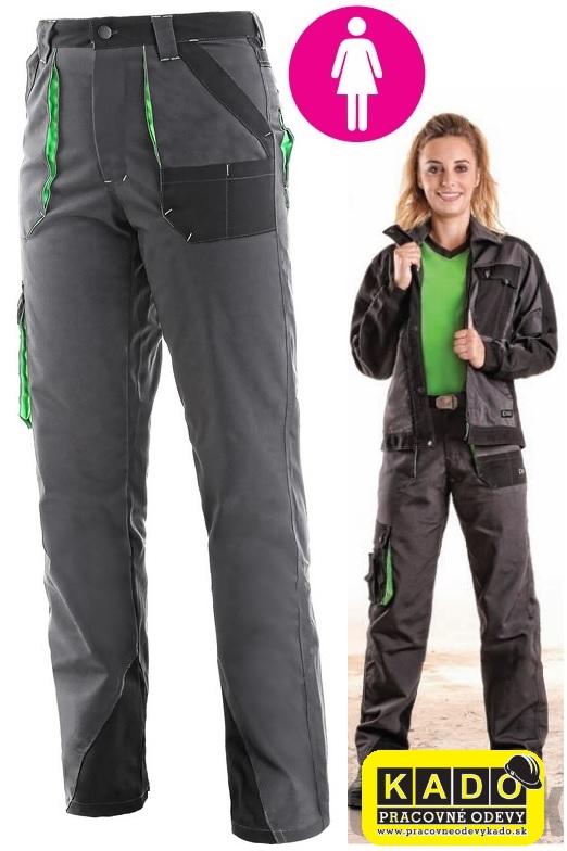 2bfb31183cde Dámske nohavice do pása SIRIUS AISHA CXS šedo-zelené