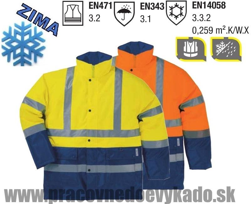 Pracovné odevy - reflexná bunda STRADA 2 PANOPLY DELTAPLUS ... d9f5862f80d