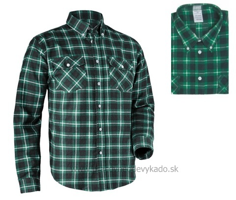 5ff55a70bedf Pracovné odevy - flanelová bavlnená košeľa TOM CXS zelená