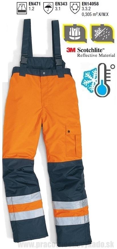 Pracovné odevy-Zimné Reflexné Nohavice FARGO DELTAPLUS oranžová ... f28ebac4363
