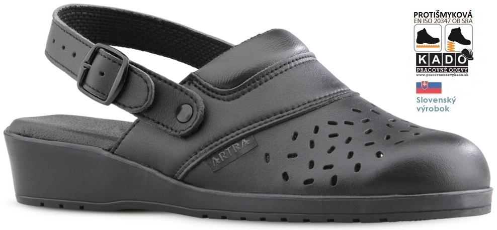 e5ad94869ed1 Zdravotná obuv - sandále ARTRA 052 6660 OB E SRA ČIERNE