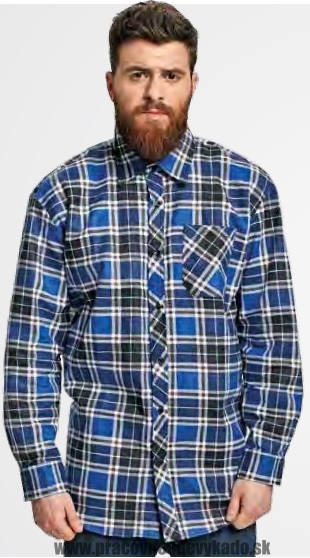 445d1f296a26 Pracovné odevy - košeľa SATURN ČERVA flanelová modrá