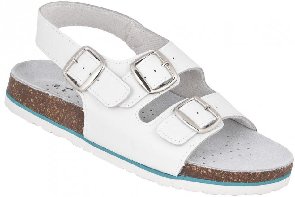 3d0a2346bd7a Pracovná zdravotná obuv sandále MERKUR biele
