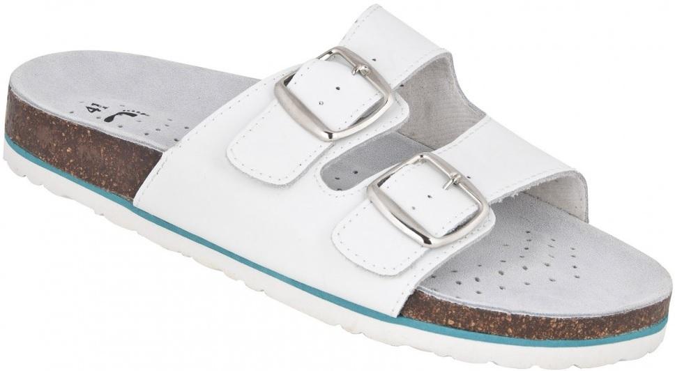 5b27adfaff01 Pracovná zdravotná obuv šľapky Mars biele