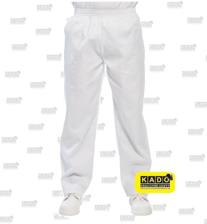 288f29e40311 Pracovné odevy-lekárske pekárske biele nohavice do gumy 2208 portwest