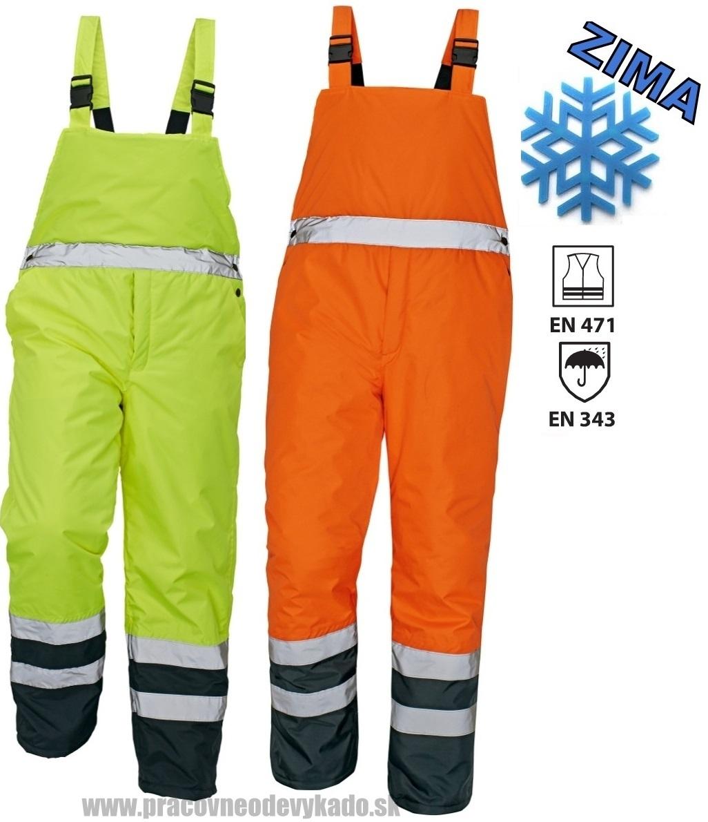 Pracovné odevy - Reflexné zateplené nohavice PADSTOW HV ČERVA 2db55684f4d
