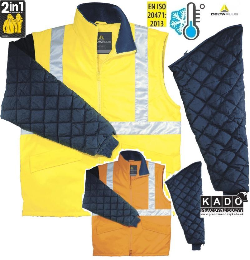 Pracovné odevy - Reflexná zateplená bunda FREEWAY HV DELTAPLUS ... fbfe6d08bf4
