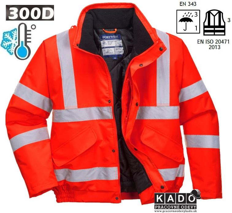 0a3395fbbdf9 Pracovné odevy - Reflexná bunda PORTWEST HI-VIS BOMBER S463 červená ...