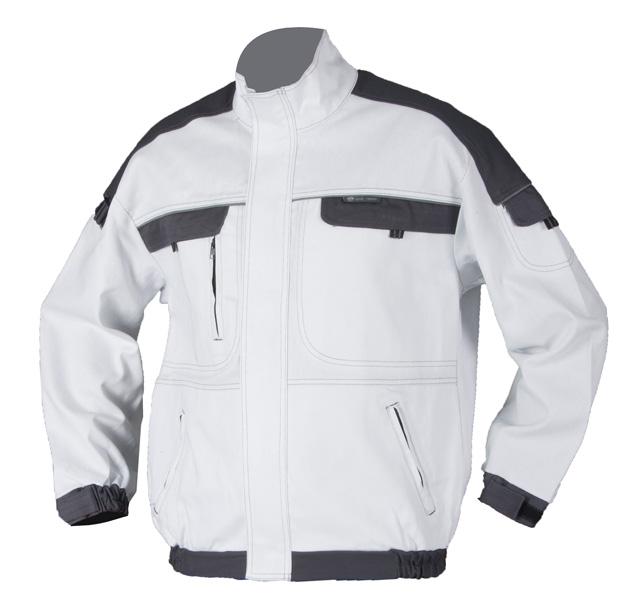 5e00400ce691 Pracovné odevy-Monterková blúza COOL TREND biela sivá