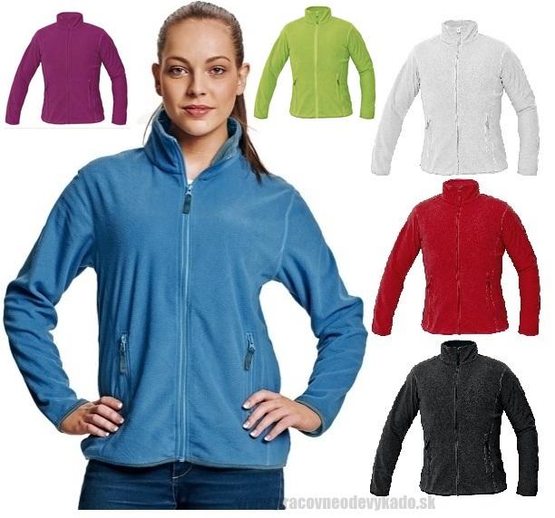 Pracovné odevy - dámska fleecová mikina GOMTI ČERVA  613591aad0