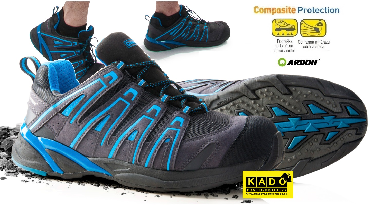 Bezpečnostná obuv - poltopánky ARDON DIGGER S1P modro čierne ... 2846776dbe