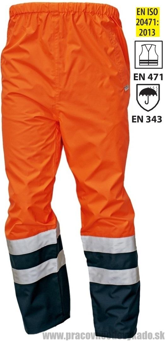 Pracovné odevy-reflexné nepremokavé nohavice EPPING ORANŽOVÁ TMAVOMODRÁ 0f659ce9263