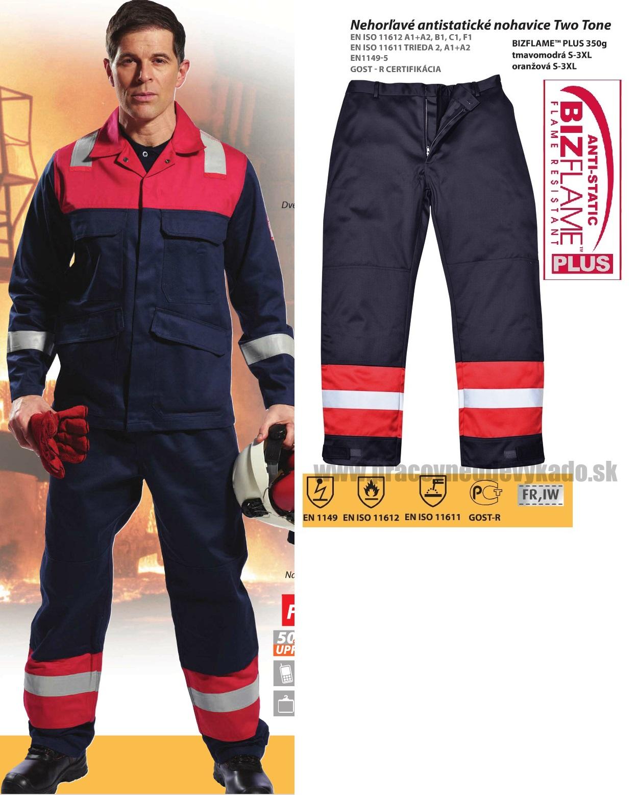 9742c849c Pracovné odevy-Antistatické nohavice FR56 pas s nehorľavou úpravou PORTWEST