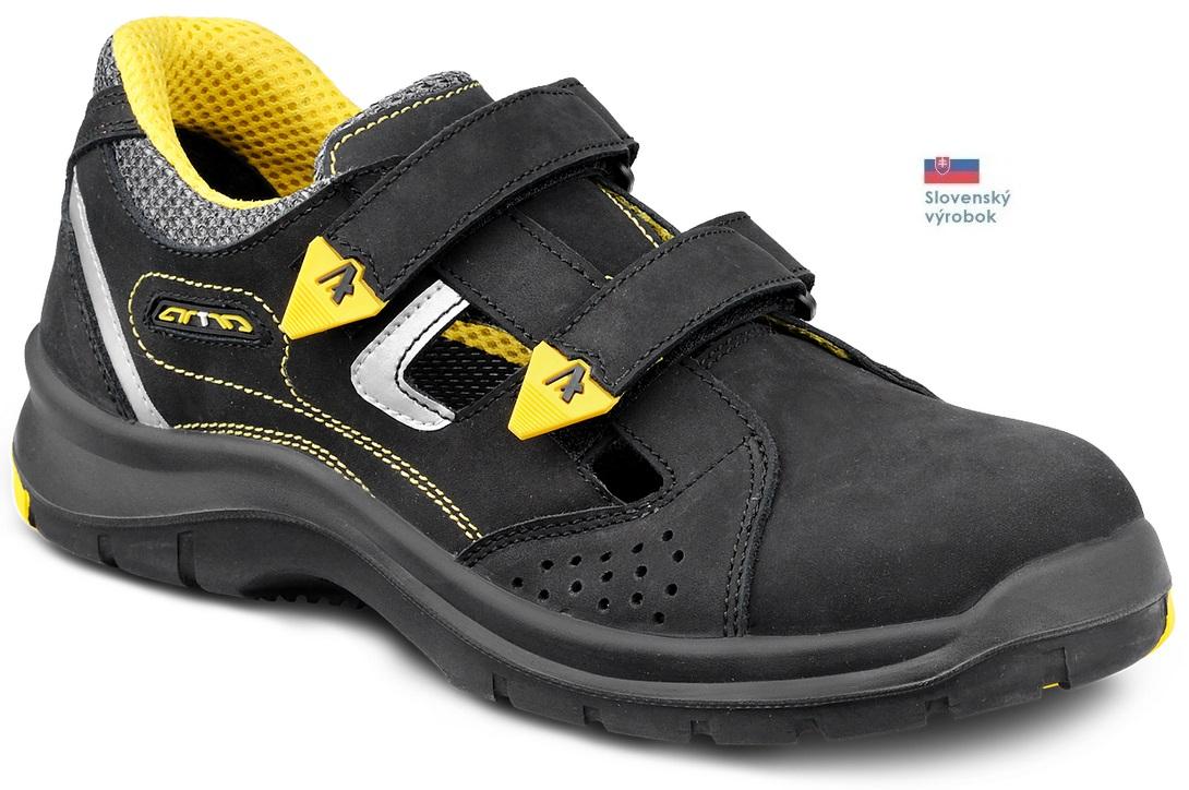 79d766cc8179 Pracovná obuv ARTRA trekové sandále ARYS 110603 6160R O1 FO ČIERNE ...