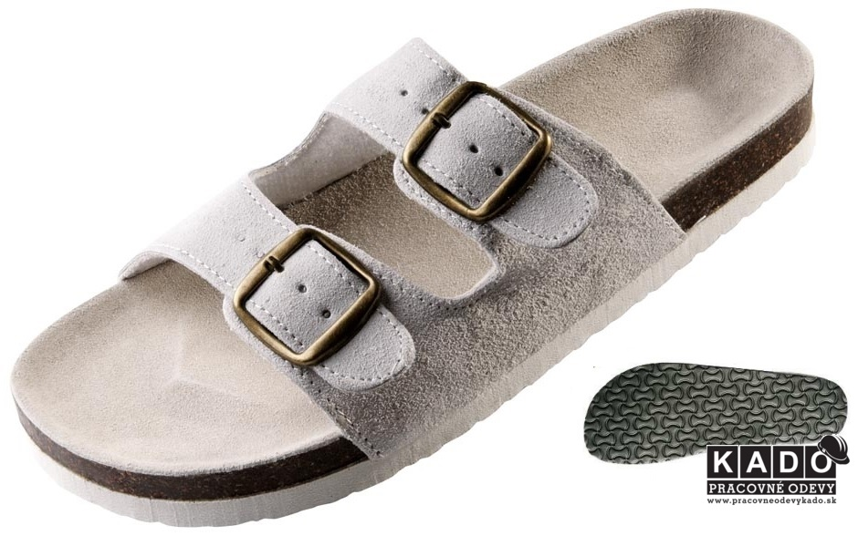 64cdbe8146d3 Pracovná obuv - korkové šľapky PUDU ČERVA BIELE