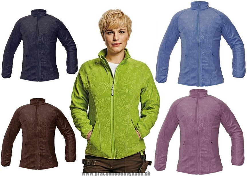 Pracovné odevy-dámska fleecová mikina YOWIE  9f74ca55a1