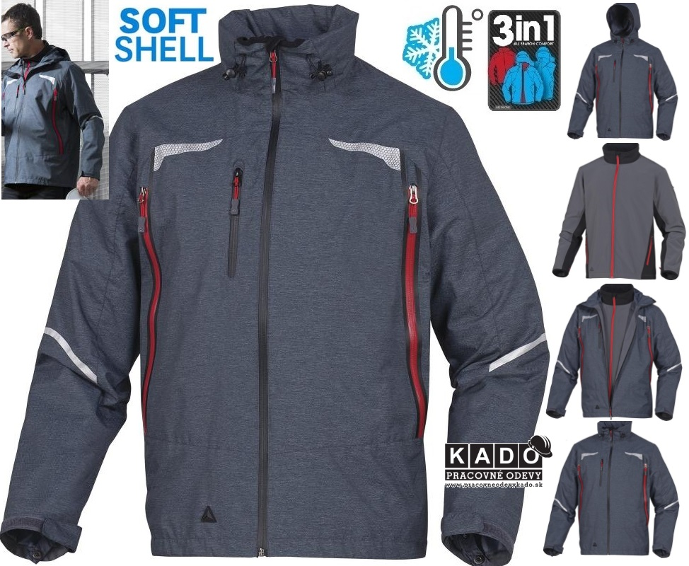 974af7e76c6 Pracovné odevy - Zateplená kombinovaná Softshell bunda EOLE DELTAPLUS 3V1