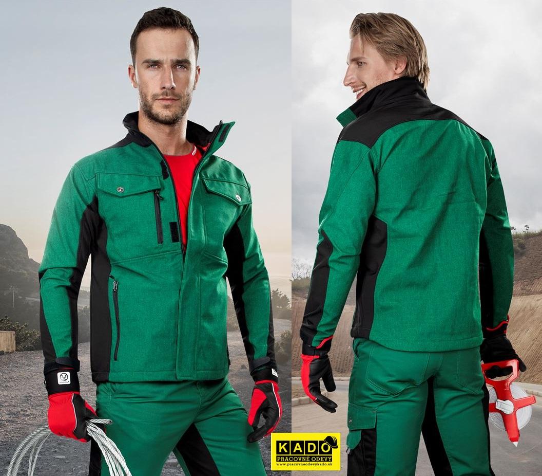 Pracovné odevy - sotshellová bunda PRE100 ARDON ZELENÁ  6bed47a2a41