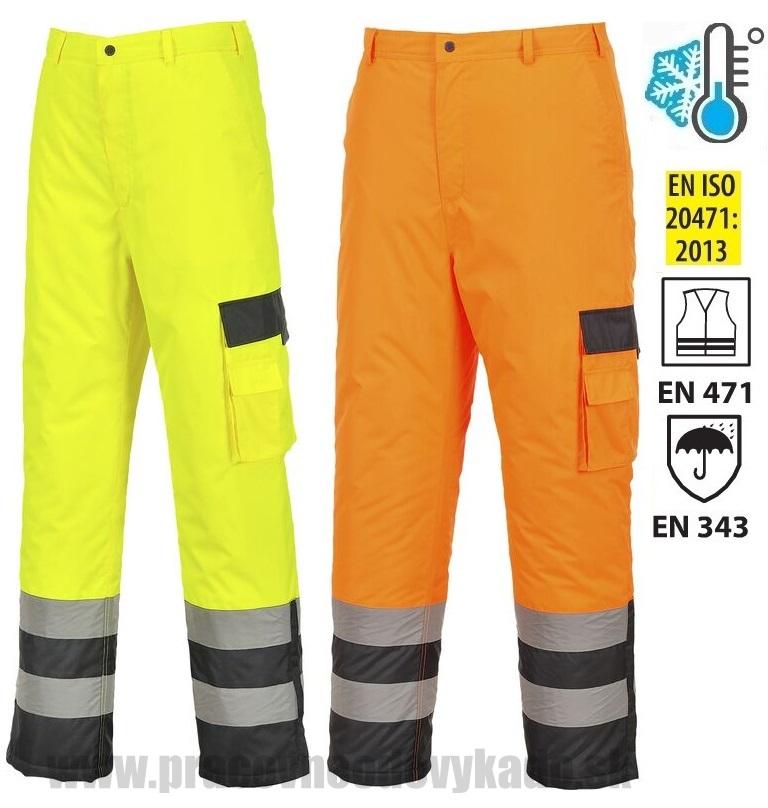 Pracovné odevy - Reflexné zateplené nohavice S686 HI-VIS CONTRAST PW 9e57b8225ed
