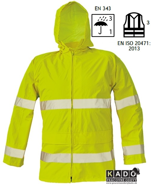 697f40b639ba Pracovné odevy - reflexná bunda GORDON ŽLTÁ