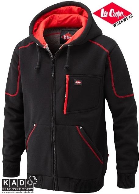 Zateplená mikina Lee Cooper Hoody LCSWT105 čierno červená dopredaj ... 2832ec05b04