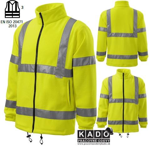 5158b87c8f3e Pracovné odevy - reflexná fleece bunda 5V1 HV FLEECE JACKET žltá ...