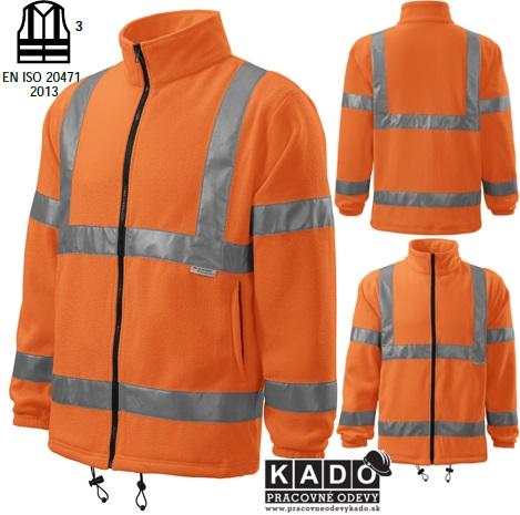 5e87f435cba4 Pracovné odevy - reflexná fleece bunda 5V1 HV FLEECE JACKET oranžová ...