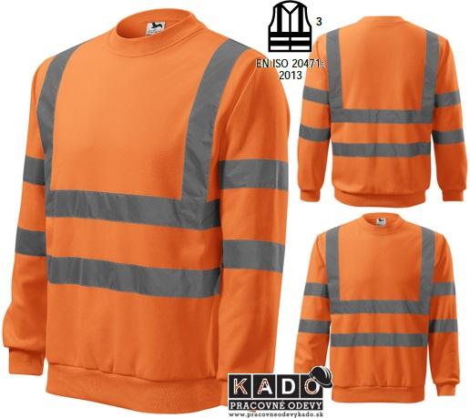 904bcbac83f4 Pracovné odevy - reflexná mikina 4V6 HV ESSENTIAL oranžová ...