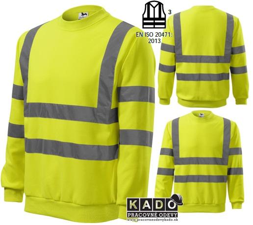 45e8300241d0 Pracovné odevy - reflexná mikina 4V6 HV ESSENTIAL žltá