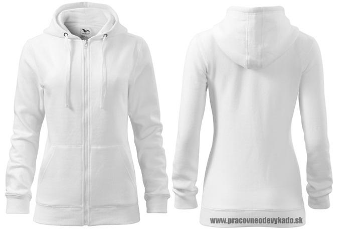 e699a7c42af Pracovné odevy-411 dámska mikina Trendy Zipper adler 00 biela ...
