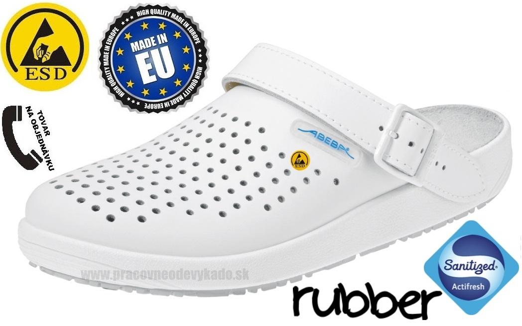 3d2fac230586 Zdravotná pracovná obuv ABEBA 5300 ESD biela