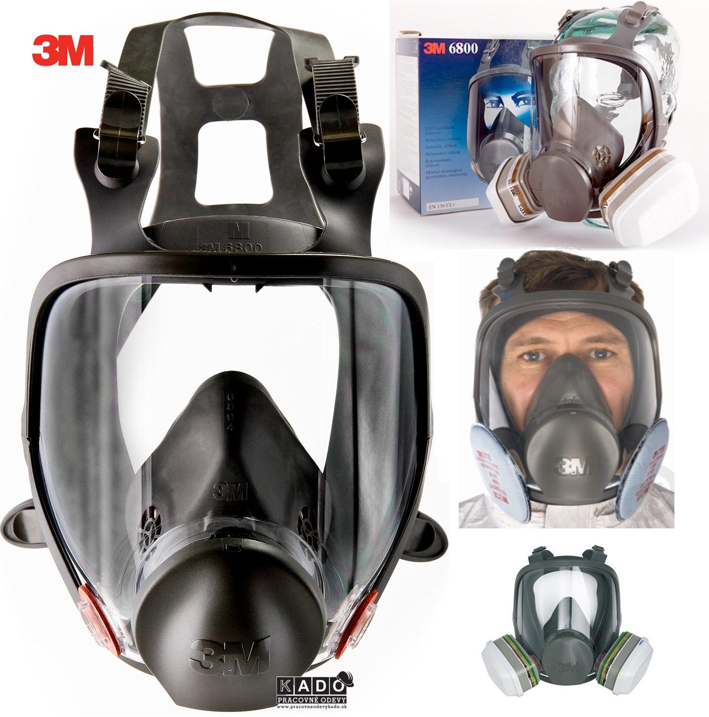 MASKA 3M 6800 celotvárová filtračná maska cba148da55