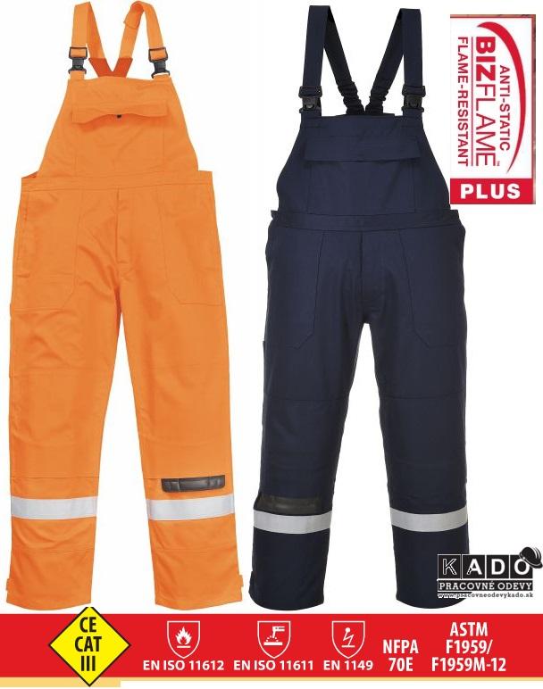 94eb25ae735c Pracovné odevy-Antistatické nohavice traky FR27 s nehorľavou úpravou PW