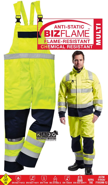 0b1b0961da0a Pracovné odevy-multinormové reflexné nohavice FR63 PW traky ...