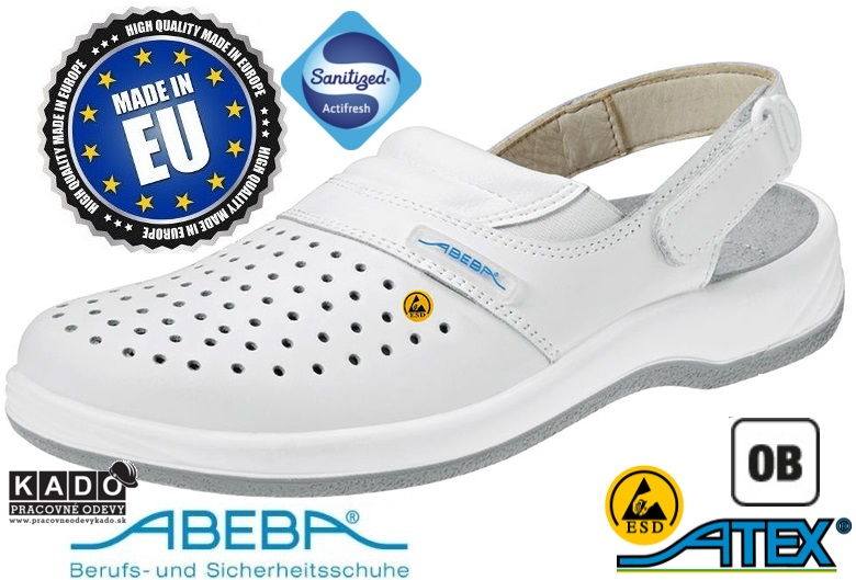 eb9ed86fb549b Zdravotná pracovná obuv ABEBA 38600 ESD biela | PRACOVNÉ ODEVY KADO ...