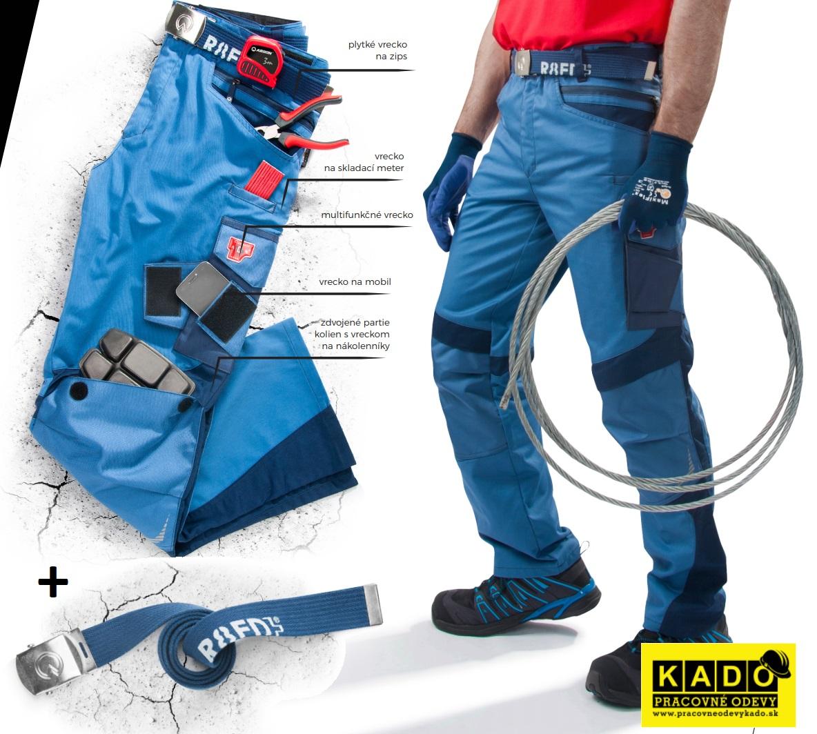 cf846f1037d5 Montérkové nohavice R8ED 02 ARDON modré 182cm