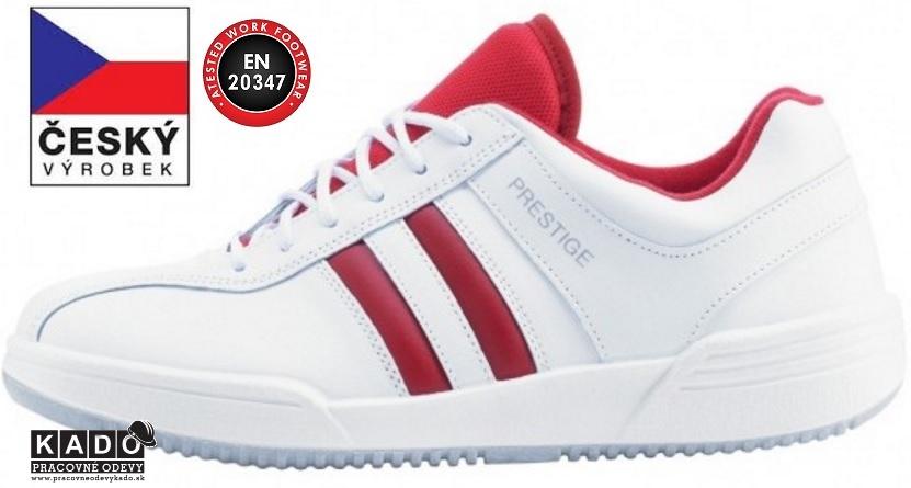 12fa2fd37d Luxusná pracovná obuv PRESTIGE MOLEDA SPORT Low bielo-červená