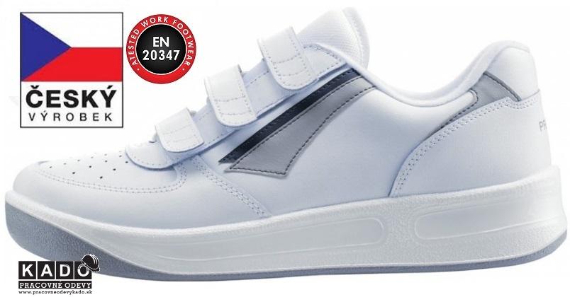 4b72f25461 Luxusná pracovná obuv PRESTIGE MOLEDA SPORT Low VELCRO BIELA
