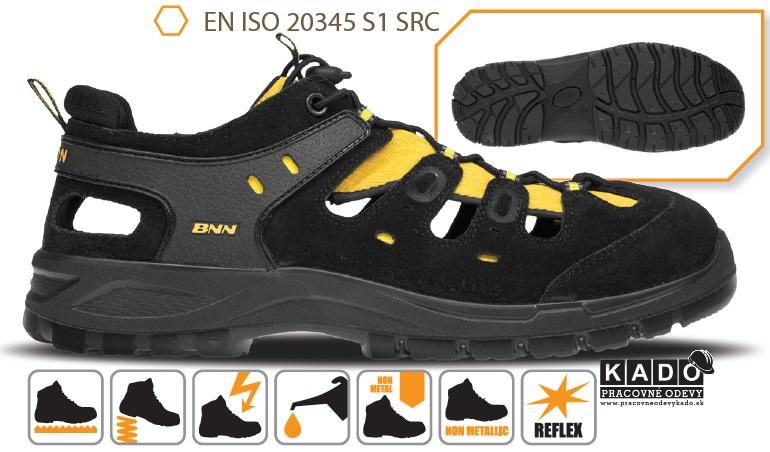 Bezpečnostná obuv - sandál BENNON BOMBIS LITE S1 Yellow NM ... d115617ad00